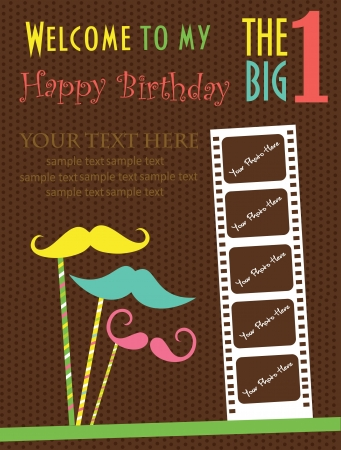 invite congratulate: kid invitation card design. vector illustration