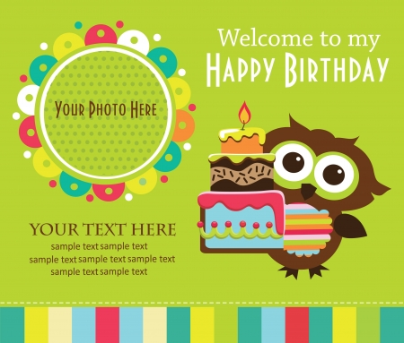 birthday invitation: kid invitation card design. vector illustration