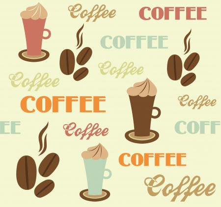 coffee pattern design. vector illustration Vector