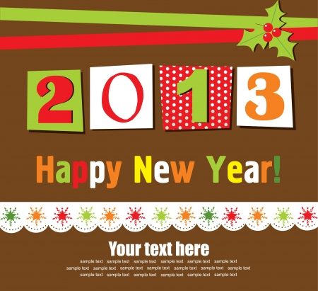 Happy New Year card. vector illustration Stock Vector - 19306890