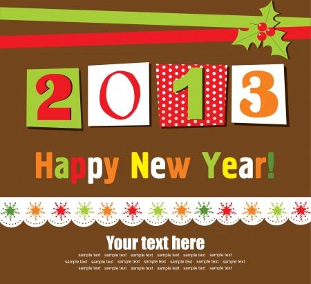 Happy New Year card. vector illustration Stock Vector - 19306890