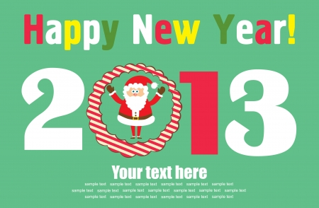 Happy New Year card. vector illustration Stock Vector - 19306757