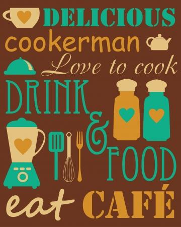 cook card. vector illustration Vector