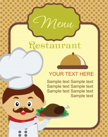 recipe card: cook card. vector illustration