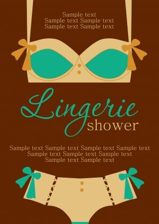 lingerie: lingerie card. vector illustration