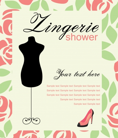 underclothing: lingerie card. vector illustration