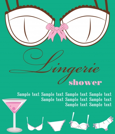lingerie card. vector illustration Vector
