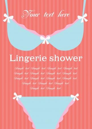 underclothing: lingerie card. vector illustration