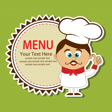 takeout: cook card. vector illustration