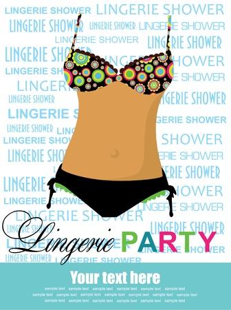 underclothing: linen postcards  illustration
