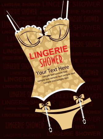 bra: lingerie card  vector illustration