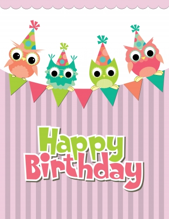 happy birthday card design  vector illustraton Illustration