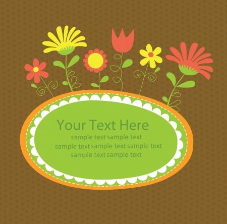 nice day: floral card design  vector illustration