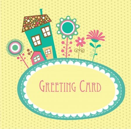 floral card design Vektor-Illustration Vektorgrafik