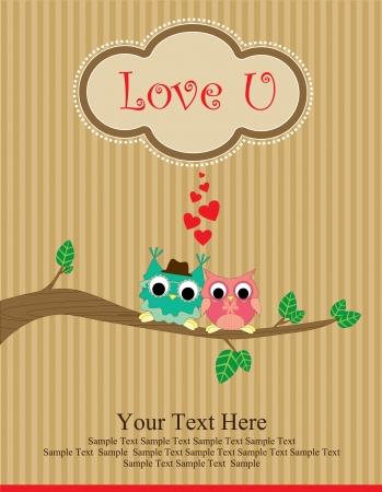 cute love card design  vector illustration Vector