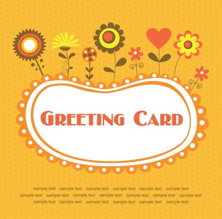 floral card design  vector illustration Vector