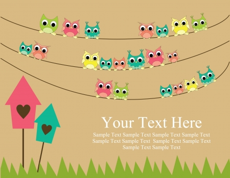 cute text box: cute greeting card gesign  vector illustration Illustration