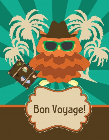 voyage: cute greeting card gesign. vector illustration