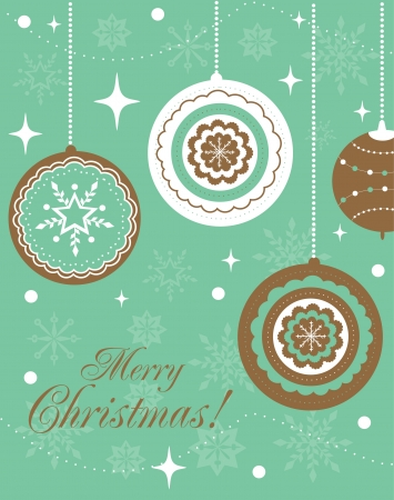 Merry Christmas card design. vector illustration Stock Vector - 19307280