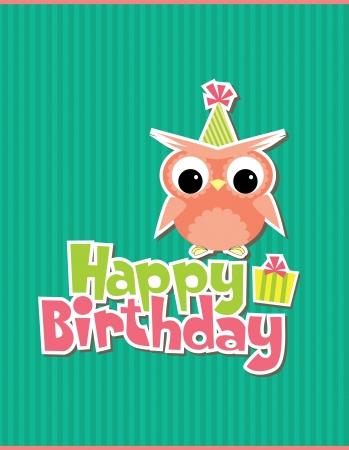diseño de la tarjeta de cumpleaños feliz. vector illustraton Vectores