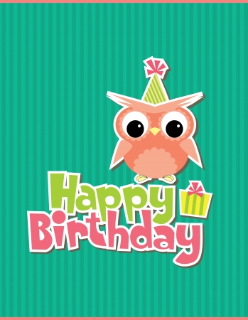 happy birthday card design. vector illustraton