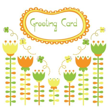 floral card design. vector illustration Vector