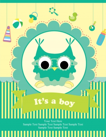 baby illustration: baby shower card design. vector illustration