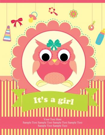 diseño de tarjeta de baby shower. ilustración vectorial