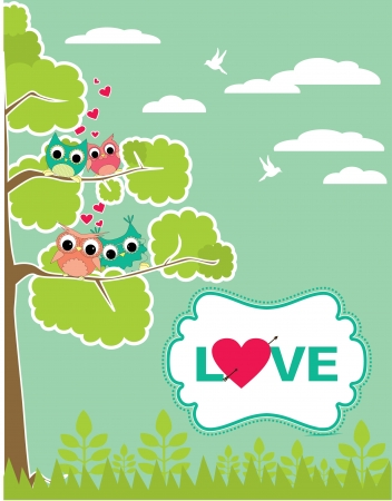 cute love card design. vector illustration Vector