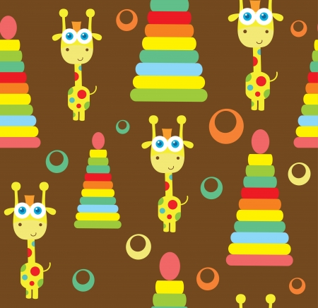 seamless baby pattern  vector illustration Vector