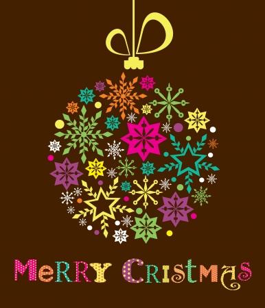Merry Christmas card design  vector illustration Stock Vector - 19306839