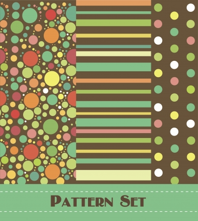 nostalgia: retro geometry pattern collection  vector illustration