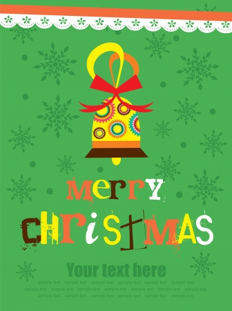 Merry Christmas card design. vector illustration Stock Vector - 19307260