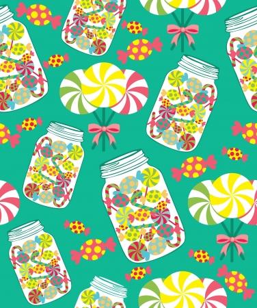sweet pattern. vector illustration Çizim