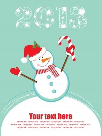 Happy New Year card. vector illustration Stock Vector - 19307254