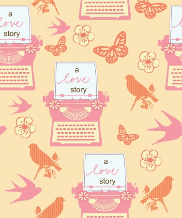 romantic pattern. vector illustration Vector