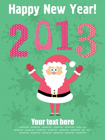 Happy New Year card. vector illustration Stock Vector - 19307271
