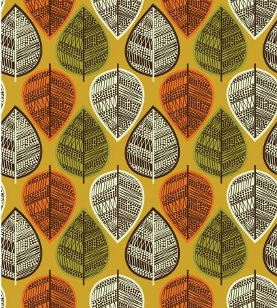 curve line: foliage pattern design. vector illustration
