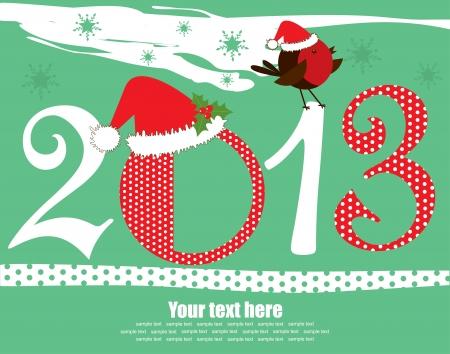 Happy New Year card. vector illustration Vector