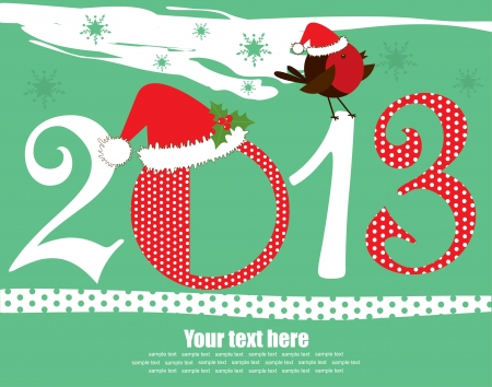 Happy New Year card. vector illustration Stock Vector - 19307194