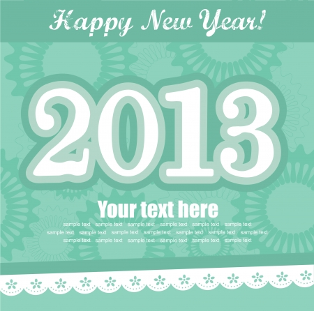 Happy New Year card. vector illustration Stock Vector - 19307295