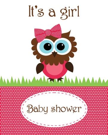girl shower: dise�o de la ducha del beb�. ilustraci�n vectorial