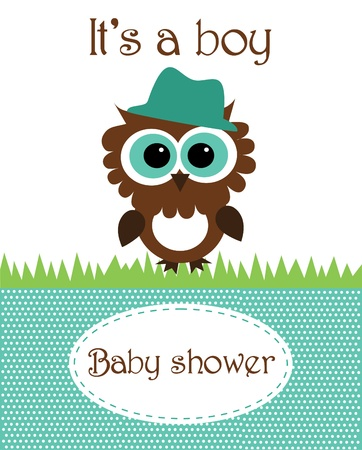 baby boy shower design. vector illustration Vector