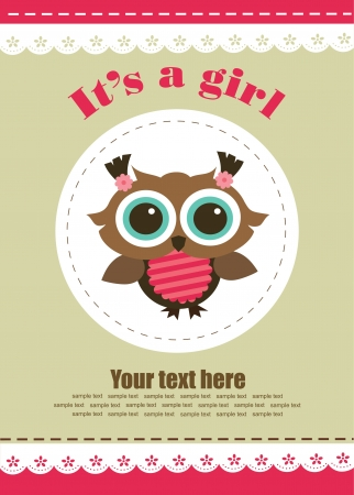 baby girl shower design. vector illustration Vector