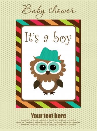 happy birtday: baby boy shower design. vector illustration