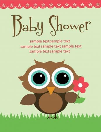 diseño de la ducha del bebé. ilustración vectorial