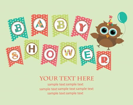 cute baby girls: baby shower design. vector illustration Illustration