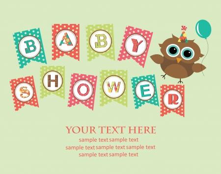 invitacion baby shower: dise�o de la ducha del beb�. ilustraci�n vectorial