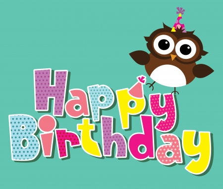 happy birtday: happy birthday card design. vector illustration Illustration