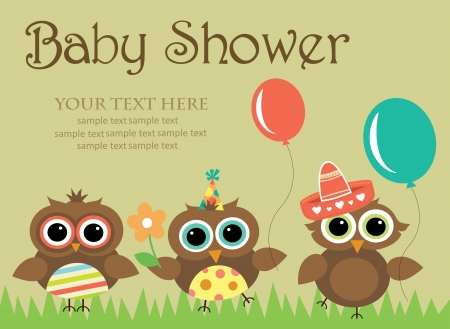 baby announcement: baby shower design. vector illustration Illustration